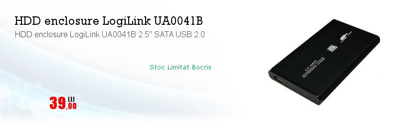 "HDD enclosure LogiLink UA0041B 2.5"" SATA USB 2.0"