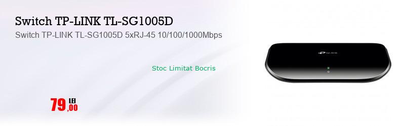 Switch TP-LINK TL-SG1005D 5xRJ-45 10/100/1000Mbps