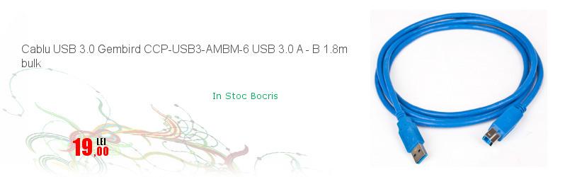 Cablu USB 3.0 Gembird CCP-USB3-AMBM-6 USB 3.0 A - B 1.8m bulk