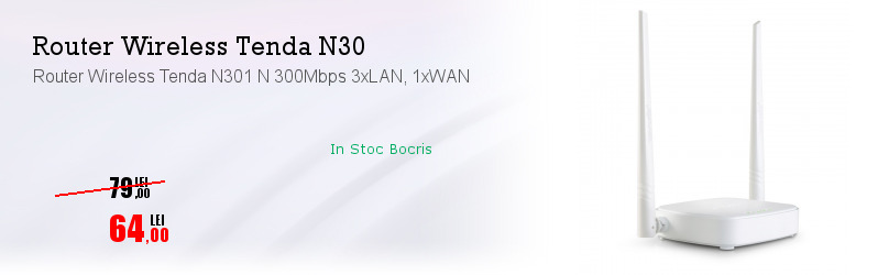 Router Wireless Tenda N301 N 300Mbps 3xLAN, 1xWAN