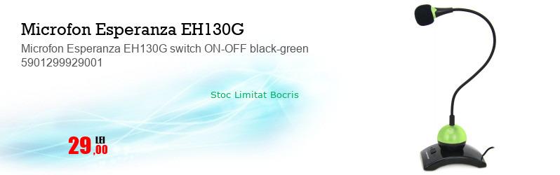 Microfon Esperanza EH130G switch ON-OFF black-green 5901299929001