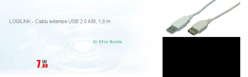 LOGILINK - Cablu extensie USB 2.0 A/B, 1,8 m