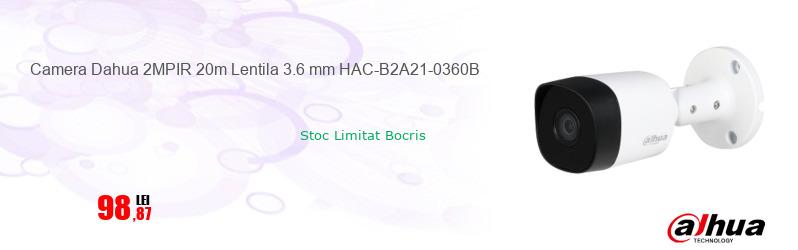 Camera Dahua 2MPIR 20m Lentila 3.6 mm HAC-B2A21-0360B