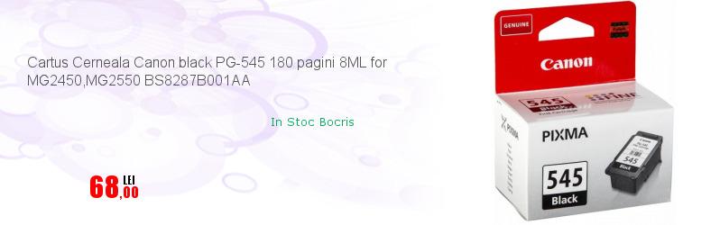 Cartus Cerneala Canon black PG-545 180 pagini 8ML for MG2450,MG2550 BS8287B001AA