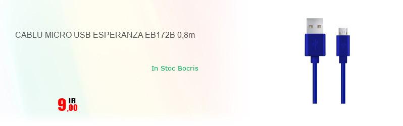 CABLU MICRO USB ESPERANZA EB172B 0,8m