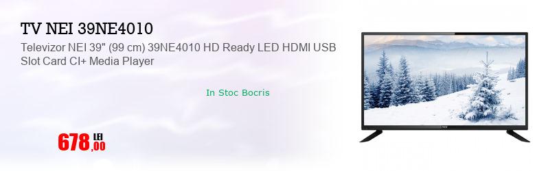 "Televizor NEI 39"" (99 cm) 39NE4010 HD Ready LED HDMI USB Slot Card CI+ Media Player"
