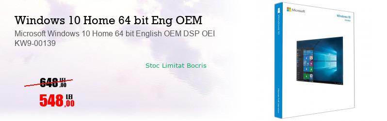 Microsoft Windows 10 Home 64 bit English OEM DSP OEI KW9-00139