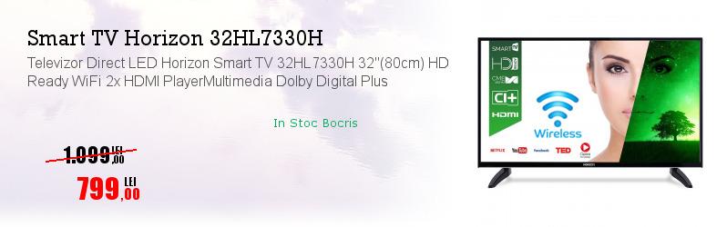 "Televizor Direct LED Horizon Smart TV 32HL7330H 32""(80cm) HD Ready WiFi 2x HDMI PlayerMultimedia Dolby Digital Plus"