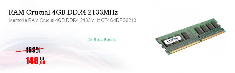 Memorie RAM Crucial 4GB DDR4 2133MHz CT4G4DFS8213