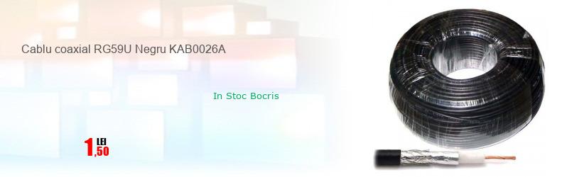 Cablu coaxial RG59U Negru KAB0026A