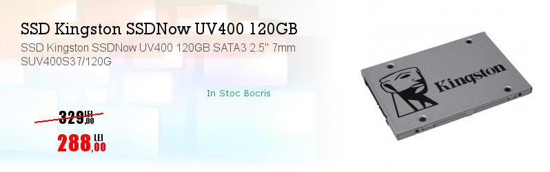 """SSD Kingston SSDNow UV400 120GB SATA3 2.5"""" 7mm SUV400S37/120G"""