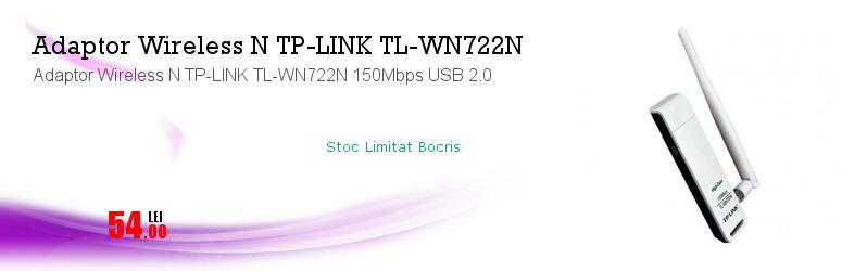 Adaptor Wireless N TP-LINK TL-WN722N 150Mbps USB 2.0