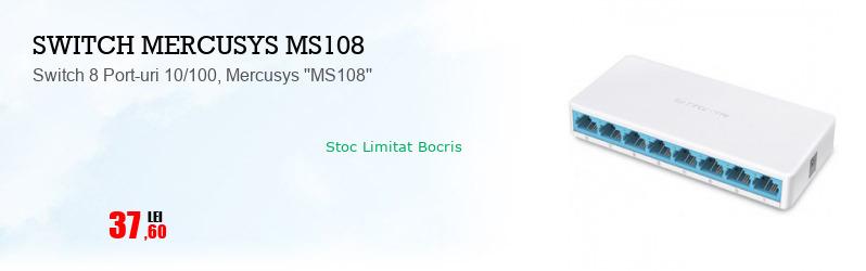 Switch 8 Port-uri 10/100, Mercusys ''MS108''