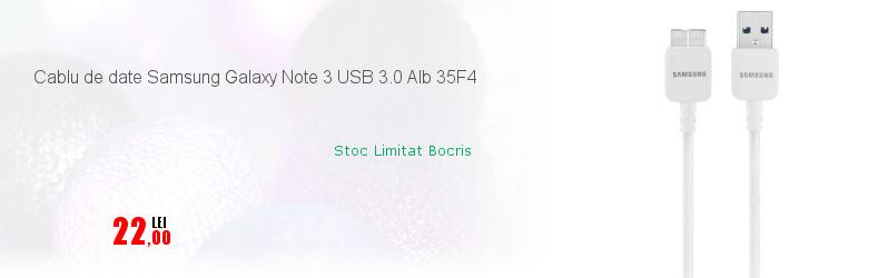 Cablu de date Samsung Galaxy Note 3 USB 3.0 Alb 35F4