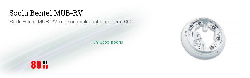 Soclu Bentel MUB-RV cu releu pentru detectori seria 600