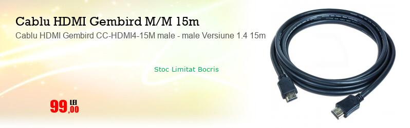 Cablu HDMI Gembird CC-HDMI4-15M male - male Versiune 1.4 15m