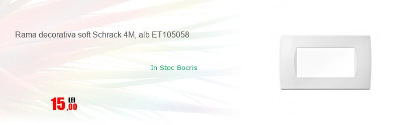 Rama decorativa soft Schrack 4M, alb ET105058