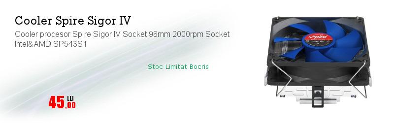 Cooler procesor Spire Sigor IV Socket 98mm 2000rpm Socket Intel&AMD SP543S1