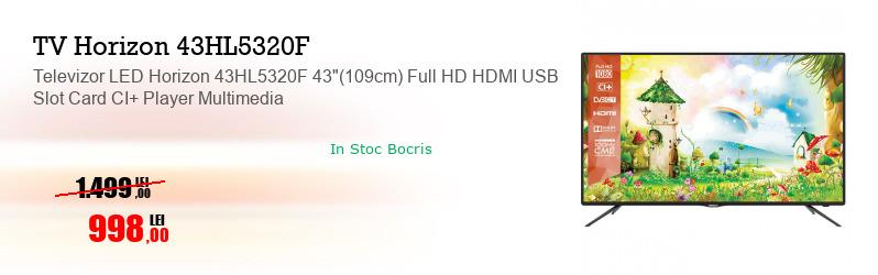 """Televizor LED Horizon 43HL5320F 43""""(109cm) Full HD HDMI USB Slot Card CI+ Player Multimedia"""