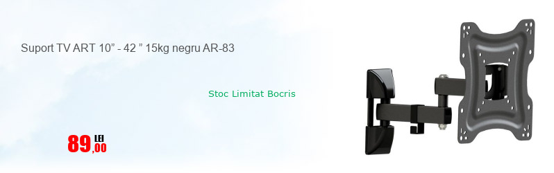 "Suport TV ART 10"" - 42 "" 15kg negru AR-83"