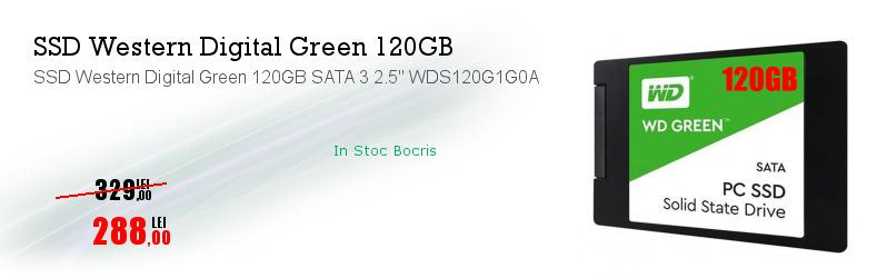 """SSD Western Digital Green 120GB SATA 3 2.5"""" WDS120G1G0A"""