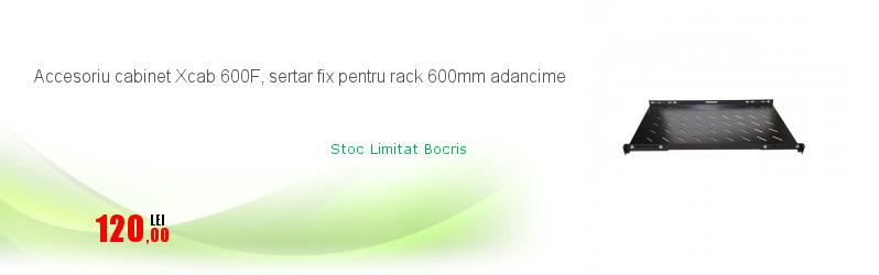 Accesoriu cabinet Xcab 600F, sertar fix pentru rack 600mm adancime
