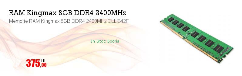 Memorie RAM Kingmax 8GB DDR4 2400MHz GLLG42F