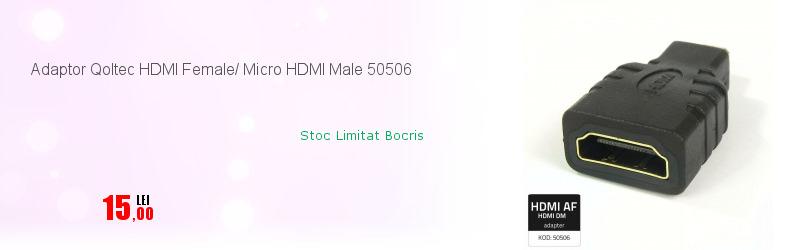 Adaptor Qoltec HDMI Female/ Micro HDMI Male 50506