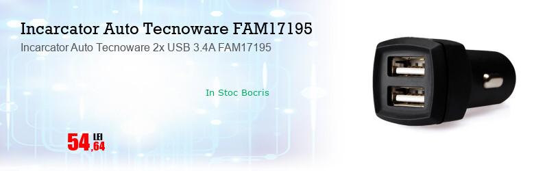 Incarcator Auto Tecnoware 2x USB 3.4A FAM17195