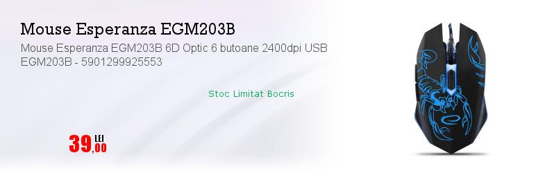 Mouse Esperanza EGM203B 6D Optic 6 butoane 2400dpi USB EGM203B - 5901299925553