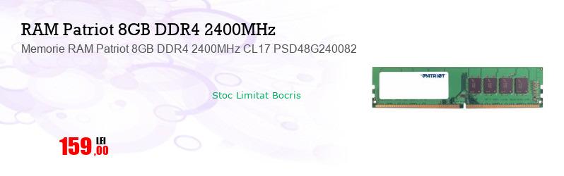 Memorie RAM Patriot 8GB DDR4 2400MHz CL17 PSD48G240082