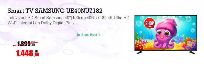 Televizor LED Smart Samsung 40''(100cm) 40NU7182 4K Ultra HD Wi-Fi Integrat Lan Dolby Digital Plus