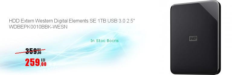 """HDD Extern Western Digital Elements SE 1TB USB 3.0 2.5"""" WDBEPK0010BBK-WESN"""