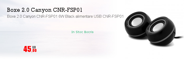 Boxe 2.0 Canyon CNR-FSP01 6W Black alimentare USB CNR-FSP01