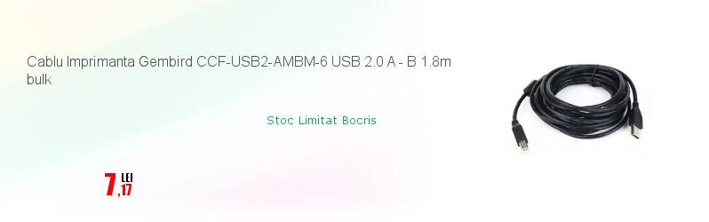 Cablu Imprimanta Gembird CCF-USB2-AMBM-6 USB 2.0 A - B 1.8m bulk