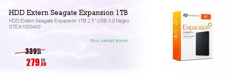 "HDD Extern Seagate Expansion 1TB 2.5"" USB 3.0 Negru STEA1000400"