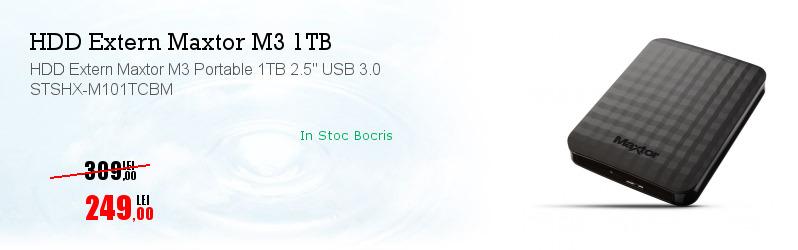 "HDD Extern Maxtor M3 Portable 1TB 2.5"" USB 3.0 STSHX-M101TCBM"