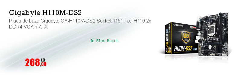 Placa de baza Gigabyte GA-H110M-DS2 Socket 1151 Intel H110 2x DDR4 VGA mATX