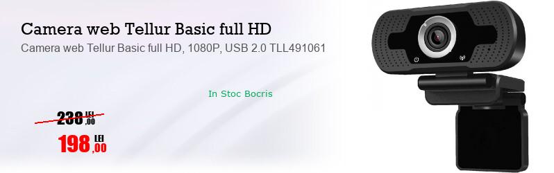 Camera web Tellur Basic full HD, 1080P, USB 2.0 TLL491061