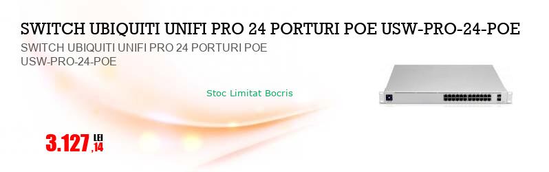 SWITCH UBIQUITI UNIFI PRO 24 PORTURI POE USW-PRO-24-POE
