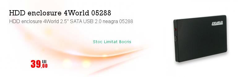 "HDD enclosure 4World 2.5"" SATA USB 2.0 neagra 05288"