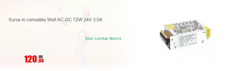 Sursa in comutatie Well AC-DC 72W 24V 3.0A