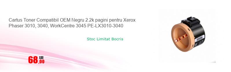 Cartus Toner Compatibil OEM Negru 2.2k pagini pentru Xerox Phaser 3010, 3040, WorkCentre 3045 PE-LX3010-3040
