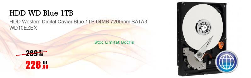 HDD Western Digital Caviar Blue 1TB 64MB 7200rpm SATA3 WD10EZEX