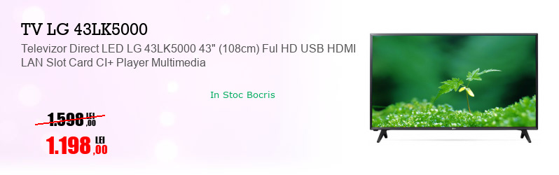 "Televizor Direct LED LG 43LK5000 43"" (108cm) Ful HD USB HDMI LAN Slot Card CI+ Player Multimedia"