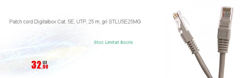 Patch cord Digitalbox Cat. 5E, UTP, 25 m, gri STLU5E25MG
