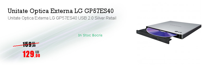 Unitate Optica Externa LG GP57ES40 USB 2.0 Silver Retail