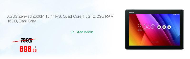 ASUS ZenPad Z300M 10.1'' IPS, Quad-Core 1.3GHz, 2GB RAM, 16GB, Dark Gray