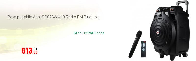Boxa portabila Akai SS023A-X10 Radio FM Bluetooth