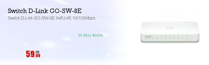 Switch D-Link GO-SW-8E 8xRJ-45 10/100Mbps